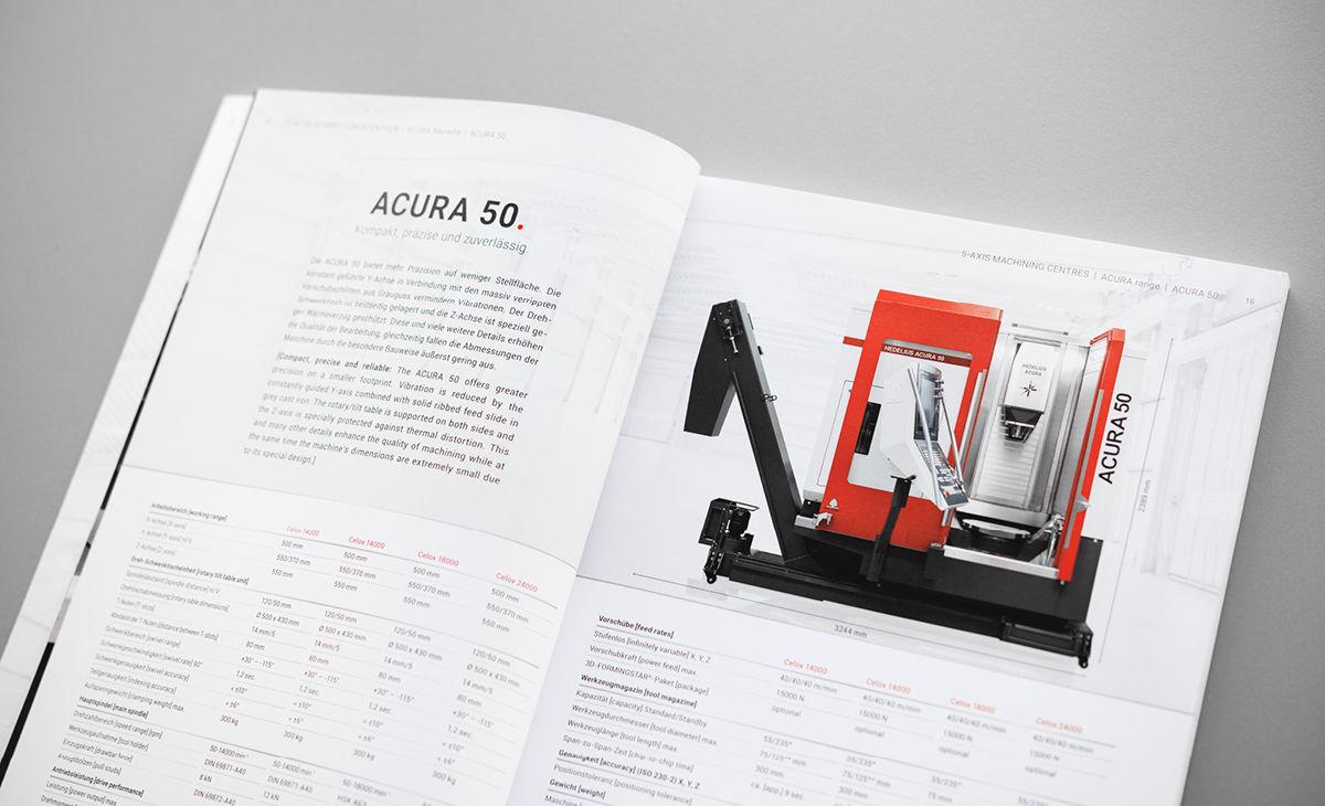 HEDELIUS ACURA 50: Maschinenseite im HEDELIUS-Gesamtkatalog