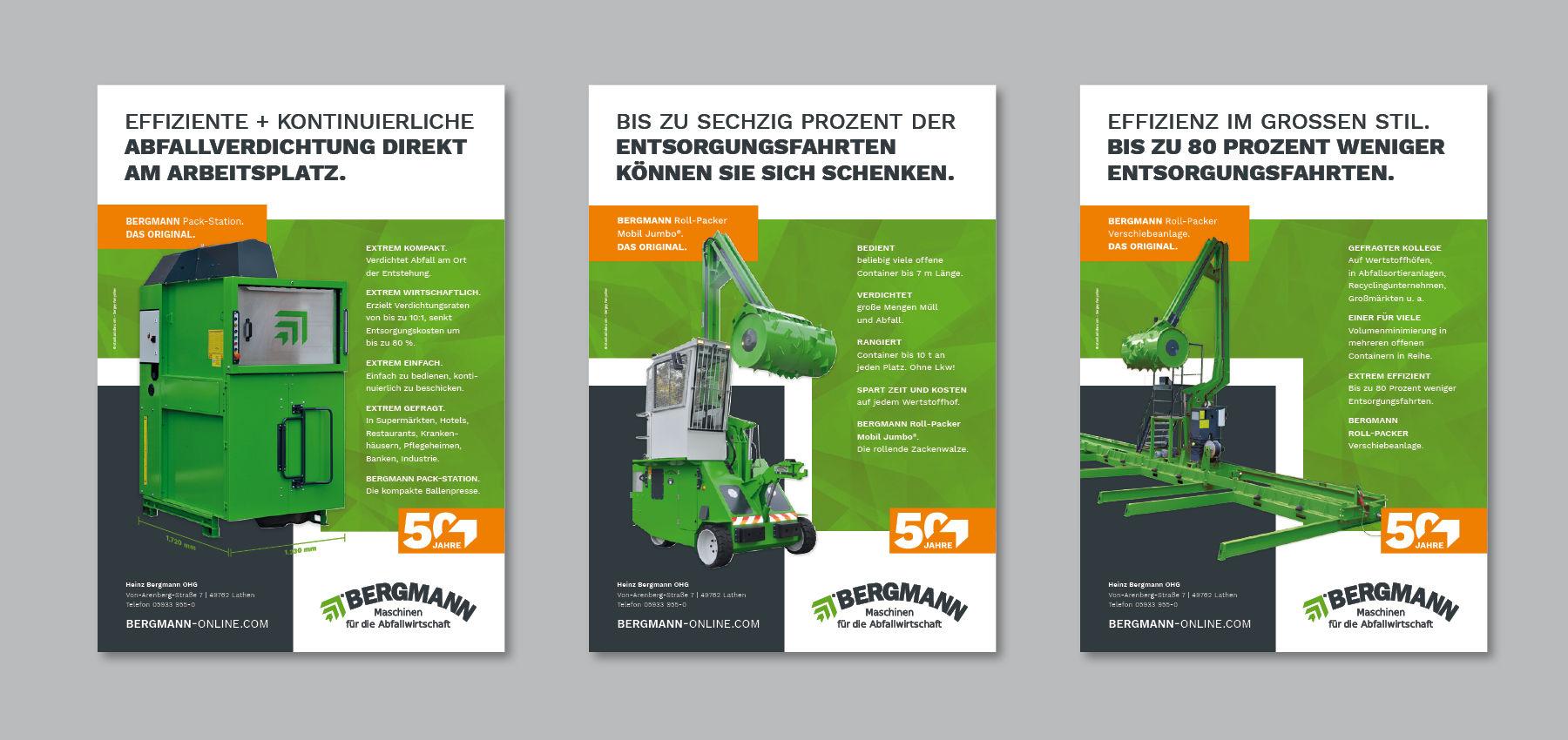 Bergmann Maschinen für die Abfallwirtschaft: Maschinenflyer