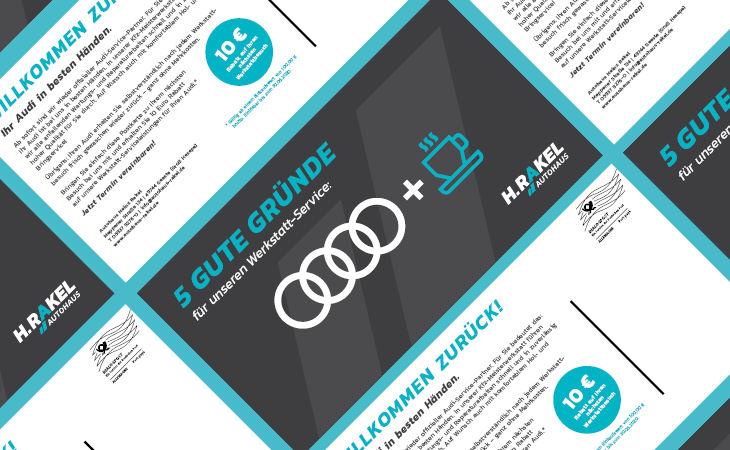 Postkarte: Autohaus Rakel ist Audi-Service-Partner