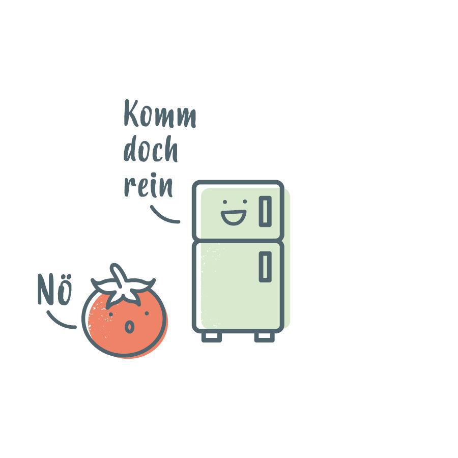 Tomaten gehören nicht in den Kühlschrank